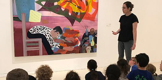 הרצאה לילדים בחלל המוזיאון