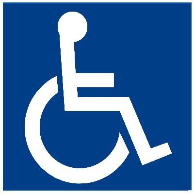 לוגו נגישות - כיסא גלגלים