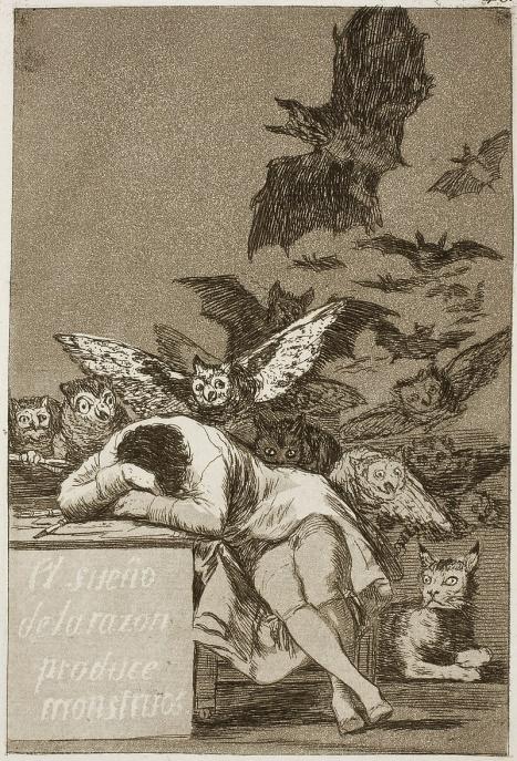 פרנסיסקו גויה, תרדמת התבונה מולידה מפלצות, 1799